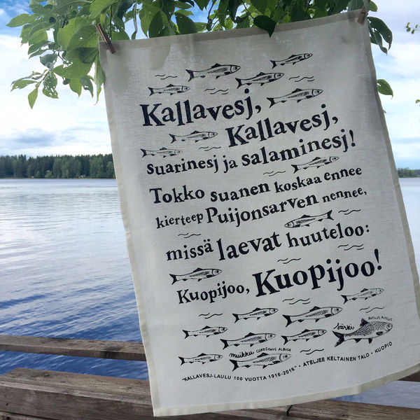 Suomalaiset Olkalaukut : Keitti?pyyhe kallavesj laulu quot musta ateljee