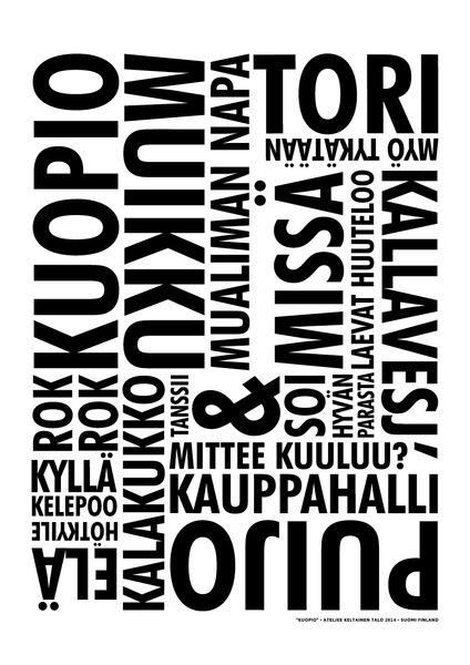 Kuopio juliste musta